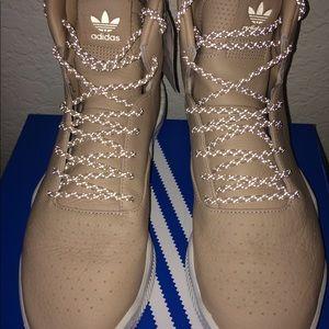 adidas Shoes - Adidas Tubular Instinct Beige Tan Reflect Laces
